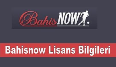 Bahisnow Lisans Bilgileri